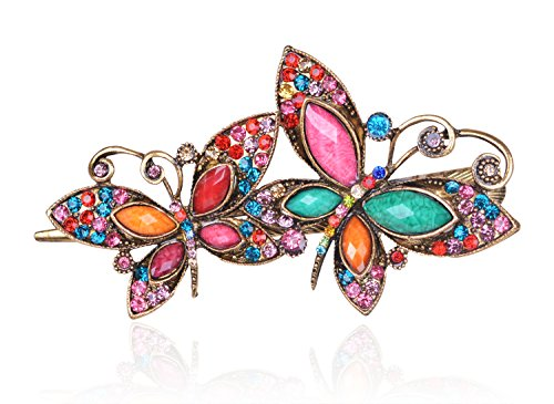 Buankoxy Women's Butterfly Crystal Hair Clips Hairpins- For Hair Clip Beauty Tools (Multicolor)
