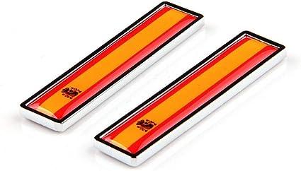 1 Par España Bandera 3D Metal Car Body Logo Auto Motocicleta ...