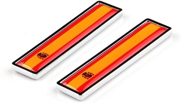 1 Par España Bandera 3D Metal Car Body Logo Auto Motocicleta Personalidad Decoración Etiqueta Emblema Insignia: Amazon.es: Coche y moto