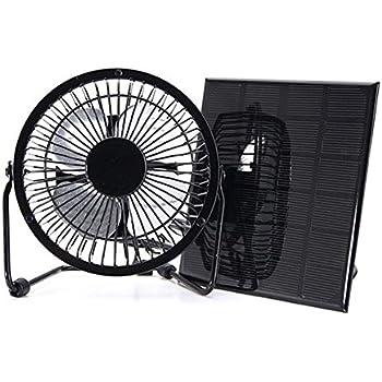Amazon Com Cdt F10 Solar Power Fan 10 Watt 6 Inch Fan