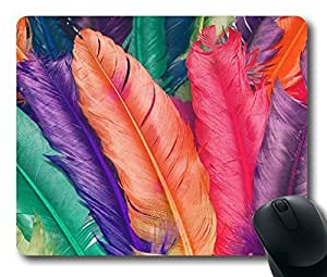 Colorful Feathers ,Rectangle mouse pad Your Perfect Choice