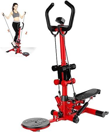 WXH Stepper Stepper Step Machine, 2 en 1 Escalera de Escalera, con Mancuernas, Manillar y Monitor LCD, Cardio Trainer Fitness Ejercicio Entrenamiento: Amazon.es: Hogar