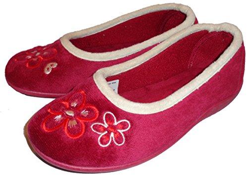 Colore Pantofole Bordeaux Arles Donna Stile Slip On Mirak HvxCSfwqC