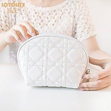 HUAZHUANGXIANGBAO Toallas sanitarias pequeño Mini portátil Bolsa de cosméticos Paquete Lindo admisión Impermeable Acolchado cosmética Coreana: Amazon.es: ...