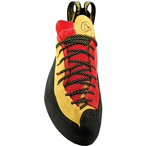 La Sportiva Testarossa - Red / Yellow - EU 37.5 / UK 4.5 / US M 5.5 / US W 6.5 - Precise technical climbing shoe y9Zi9f8B4