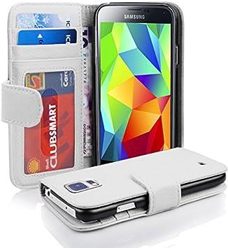 Cadorabo Funda Libro para Samsung Galaxy S5 / S5 Neo en Blanco ...