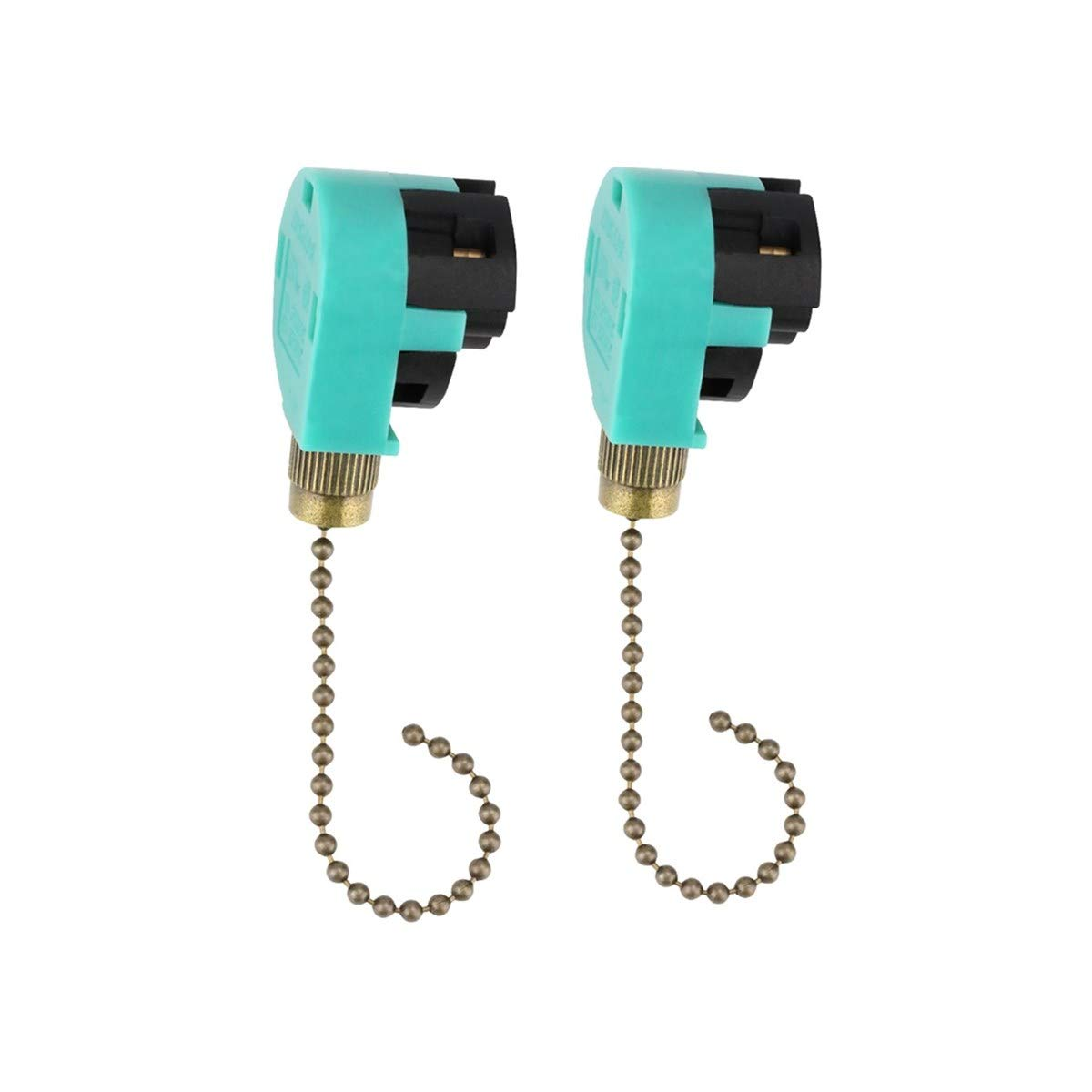 2pcs Ceiling Fan Switch Pull Chain Control Ze 268s6 208s6 3 Speed Zing Ear Wiring Diagram Besides 4 Wire Ceailing Replacement Antique