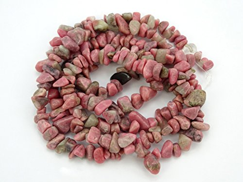 jennysun2010 Natural Gemstone 4-8mm Chip Beads 32'' - 35'' Rhodochrosite Hematite Turquoise Malachite Coral 1 Strand for Bracelet Necklace Earrings Jewelry Making Crafts Design Healing