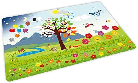 Plástico individual de aprendizaje - 2-in-1 - Juego para aprender inglés - mantel individual para niños: Amazon.es: Hogar