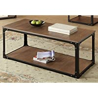 ACME Furniture 80450 Kenton Coffee Table, Oak & Black