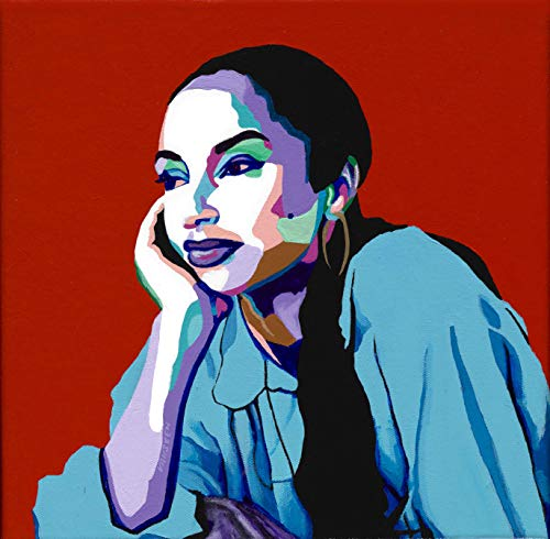 (Vakseen Art - No Ordinary Love - Sade portrait art - Limited Edition Giclee Print & Framed Pop Art for Wall)
