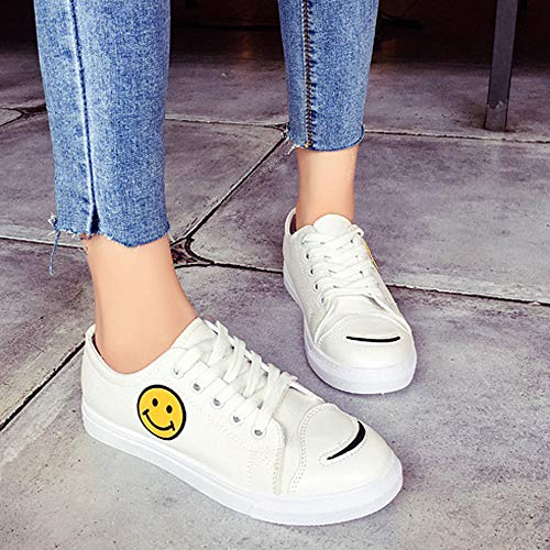 Zoccoli Shoes Stivali Heel Alti Yesmile E Women Bianco Color Skate Flat Solid Shoes Canvas Round Donna Toe Sabot wUq6AyOxrw