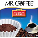 mr coffee cone filter 4 - Mr. Coffee Basket Coffee Filters, 4 Cup,  White Paper, 100-Count Boxes (Pack of 12)