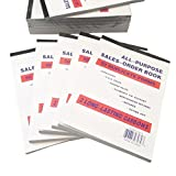 5 Pack Large Sales Order Book Receipt Invoice Duplicate Carbonless Copy 50 Sets 5.5'' X 8''5