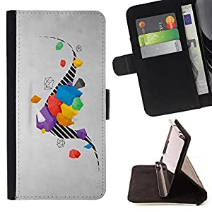 Jordan Colourful Shop - drawing stripes abstract grey gray For Sony Xperia Z3 D6603 - Leather Case Absorci???¡¯???€????€???????&bdquo