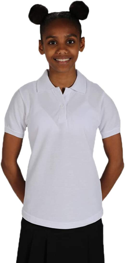 School Uniform 365 Innovation Girls Fitted Polo Shirts White