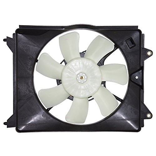 Passengers A/C AC Condenser Cooling Fan Motor Assembly Replacement for Acura ILX Hybrid & Honda Civic 19030-RSJ-E01
