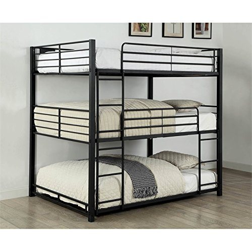 Furniture Of America Triple Bunk Bed: Amazon.com: Furniture Of America Botany Modern Full Triple