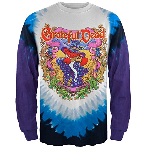 (Grateful Dead - Terrapin Moon Tie Dye Long Sleeve T-Shirt - Medium)