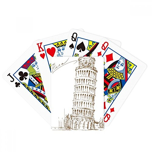 Leaning Tower of Pisa Italy Pisa Poker Playing Cards Tabletop Game Gift by beatChong