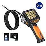 PotensicDigital EndoscopeBorescope with Waterproof CMOS Cameraand 3.5 inch Built-in Color LCD Screen-16 ft / 5m Cable, 0.32 inch Camera Diameter, 4 Zoom Options