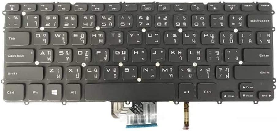 GAOCHENG Laptop Keyboard for DELL XPS 15 9530 Precision M3800 P31F 0MP1FP MP1FP Thailand TI Black with Backlit New