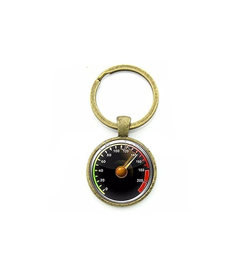 Coche velocímetro clave cadena exquisita velocímetro llavero ...