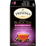 Twinings Flavored Black Tea, Blackcurrant Breeze, 20 Count Bagged Tea (6 Pack)