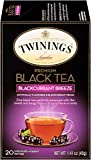 Twinings of London Blackcurrant Breeze Black Tea Bags, 20 Count (Pack of 6)