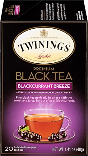 Twinings of London Blackcurrant Breeze Black Tea Bags, 20 Count (Pack of 6) Black Currant Flavored Tea