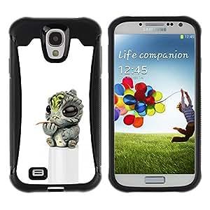 """Hypernova Defender Series TPU protection Cas Case Coque pour Samsung Galaxy S4 IV I9500 [Bebé extranjero 3D juguete Figuras""""]"""
