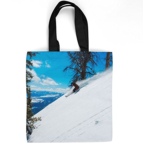 (Westlake Art - Snow Sky - Tote Bag - Fashionable Picture Photography Shopping Travel Gym Work School - 16x16 Inch (33AD8))