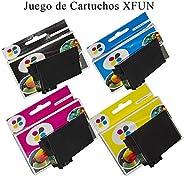 Kit de 4 Cartuchos Genericos para 195 Colores Negro, Cian, Magenta, Amarrillo - Para Impresoras: XP101-XP201-X