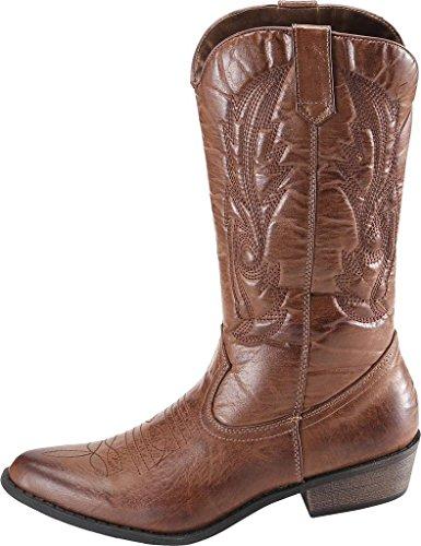 SimpleC da Donna Marrone Cowboy Stivali Western Stivali xCq1H