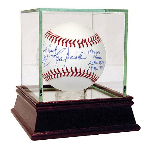 Lou Piniella Autographed Mlb Baseball (Lou Piniella Autographed MLB Baseball w/ Sweet 1835-1712 Record 1990 WS Champs 2x AL MOY 1x NL MOY Inscription - Certified Authentic Autograph)