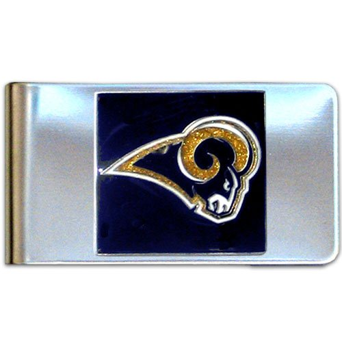 Football Stainless St Louis Steel Rams (NFL St. Louis Rams Steel Money Clip)