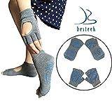 Besteek Yoga Pilates Non Slip Fingerless Socks and Gloves
