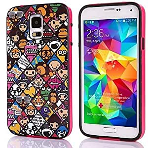 GOG- Cartoon Design Picture TPU + PC 2-in-1 Hard Case Cover For Samsung Galaxy S5 I9600