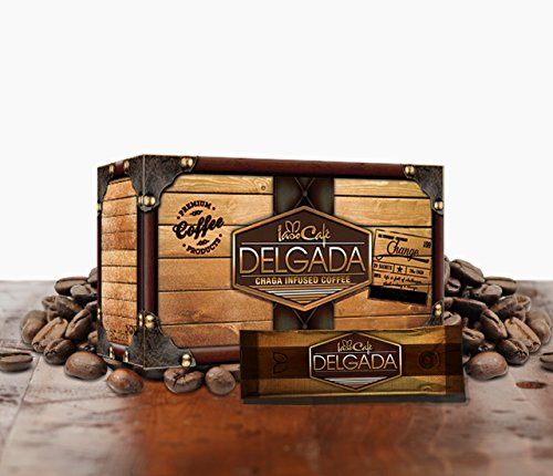Delgada coffee infused with Chaga 28 Sachets per - Coffee Infused