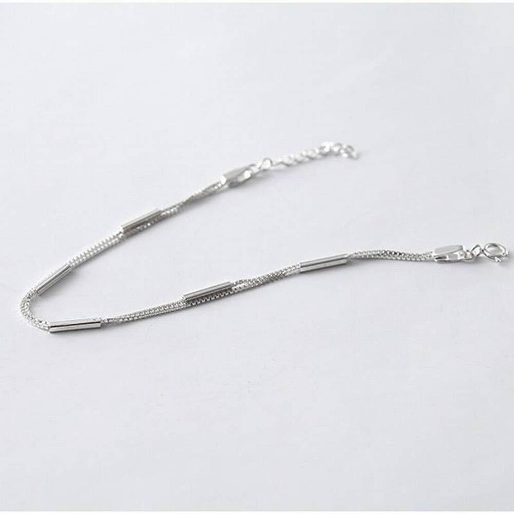 Bangles Bracelets 925 Silver Geometric Bracelet S925 Sterling Silver Bracelet Female Simple Word Strip Sticks Bracelet Natural Art Double Jewelry LOt
