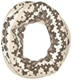Sofia Cashmere Women's 100 Percent Cashmere Graphic Fairisle Snood, Taupe Combo, One
