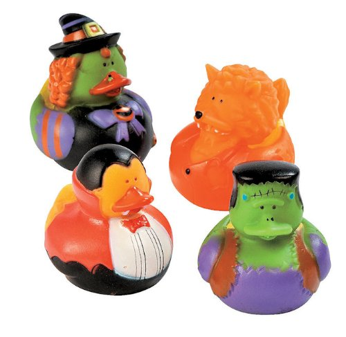 One Dozen (12) Halloween Costume Rubber Ducky Party Favors