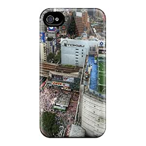 Hot YCz21840XGby Cases Covers Protector For Iphone 6- Soccer Field On Tokyo Rooftop