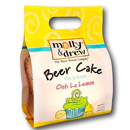 molly&drew Beer Cake Mix (17.32 Ounce) Ooh La (Lemon Glaze Lemon Cake)