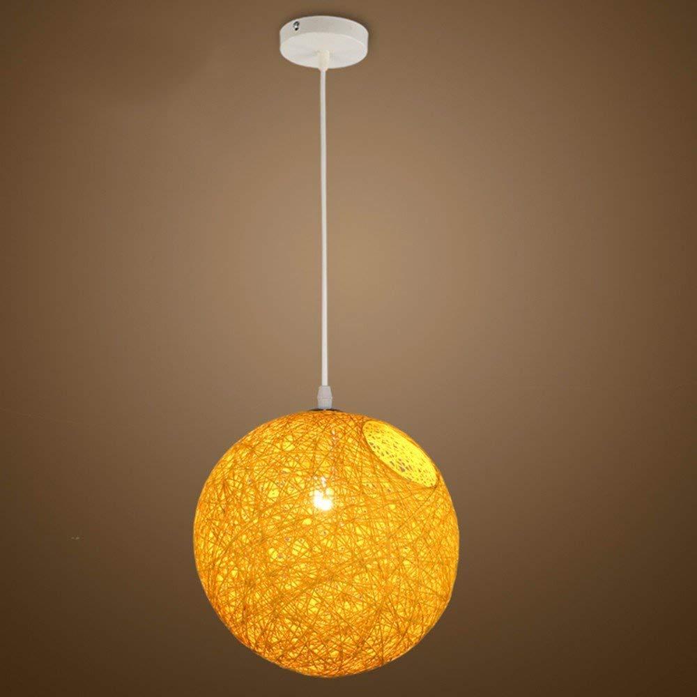 AJ Kreative Haushaltsbeleuchtung Schlafzimmer Wohnzimmer Persönlichkeit Lampen und Kronleuchter Ma Ball Bars Gelb Einstellbare Diameter20 cm