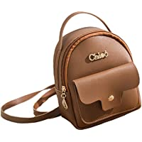 Leoie Women Mini Soft Leather Backpack Casual Handbag Shoulder Crossbody Bags