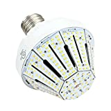Phenas Garden LED Corn Bulb 60W (400-600 Watt Replacement), LED Street Light/Garden Lamp/Parking Lot, E39 Large Mogul Screw Base, 3000K Area Light, 360° Flood Light, UL-Listed and DLC-Qualified