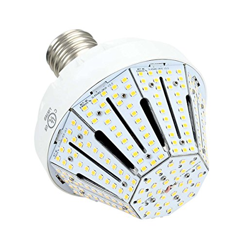 Phenas Garden LED Corn Bulb 60W (400-600 Watt Replacement), LED Street Light / Garden Lamp / Parking Lot, E39 Large Mogul Screw Base, 3000K Area Light, 360° Flood Light, UL-Listed and DLC-Qualified