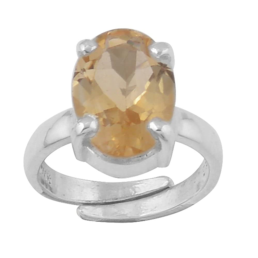 DV Jewels Resizeable Band Authentic Citrine Ring