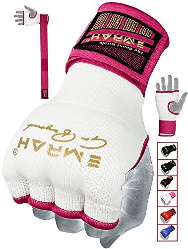 EMRAH Pro Training Ladies Boxing Inner Gloves Hand Wraps MMA Wraps Mitts (Medium, - Inner Mitts